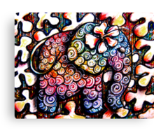 Tattoo Elephant  Canvas Print