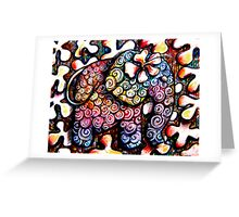 Tattoo Elephant  Greeting Card