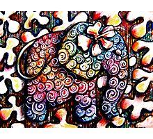 Tattoo Elephant  Photographic Print