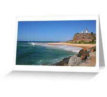 Nobbys Beach Headland Greeting Card