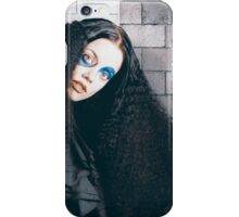 Occult medieval performer on castle brick wall iPhone Case/Skin