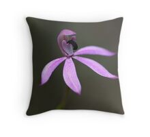 Black Tongue Caladenia (Stegostyla congesta) Throw Pillow