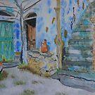 A Little Corner of Greece (. Watercolour )  by Irene  Burdell