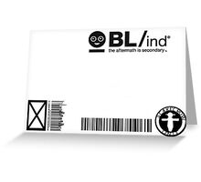 BL/ind Identification Card Greeting Card