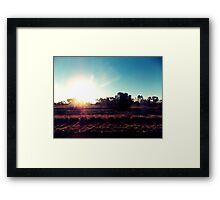 Outback Sunshine Framed Print