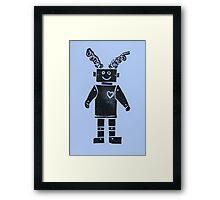 Heart Robot - Periwinkle Framed Print