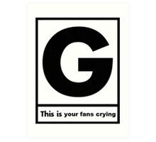 Gerard Way This Is Your Fans Crying Art Print