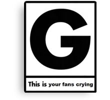Gerard Way This Is Your Fans Crying Canvas Print