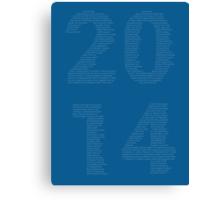 2014 - The Headlines Canvas Print