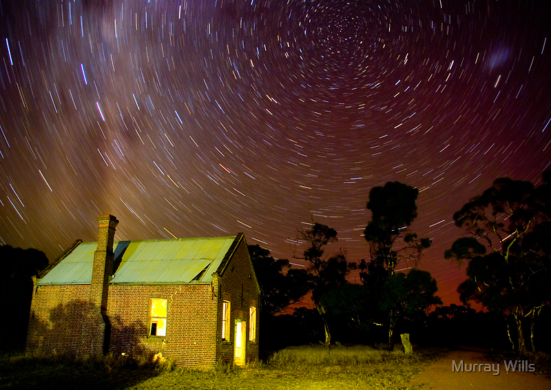 Star Trail Diapur Hall by Murray Wills