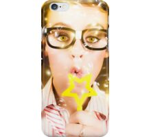 Pretty Geek Girl At Birthday Party Celebration iPhone Case/Skin