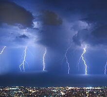 Thunderstorm over Beirut by Antoine Khater