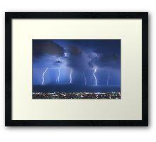 Thunderstorm over Beirut Framed Print