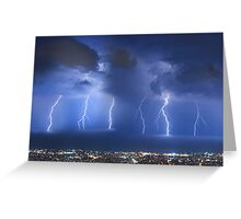 Thunderstorm over Beirut Greeting Card