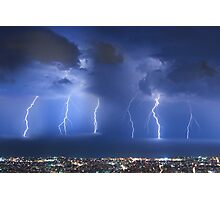Thunderstorm over Beirut Photographic Print