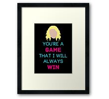 You See People Like Puzzles, I See Them As Games. Framed Print