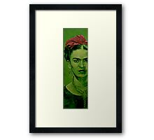 Frida Kahlo - red bow Framed Print