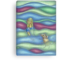 Illustration Alice in the pool of tears Canvas Print