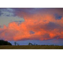 Our Sky.... late afternoon... Photographic Print