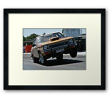 Torana getting up in the air Framed Print