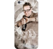 Successful business person taking aim at target iPhone Case/Skin