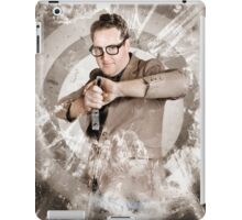 Successful business person taking aim at target iPad Case/Skin