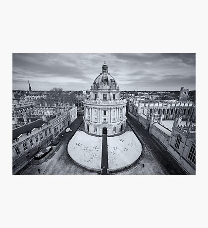 Radcliffe Camera in snow, Oxford Photographic Print