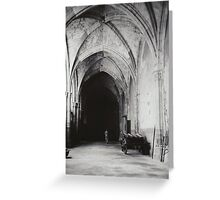 Inside the Cathedral of Toledo Greeting Card