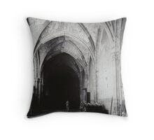 Inside the Cathedral of Toledo Throw Pillow