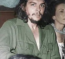 Che Guevara in his trademark olive-green military fatigues, June 2, 1959 Cuba. by Adam Asar