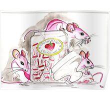 Pink sugar mice Poster