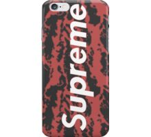 SUPREME Camo Tiger Red iPhone Case/Skin