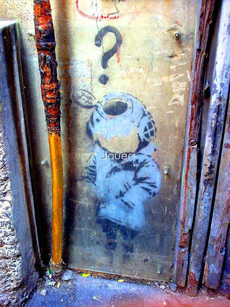Banksy Little Diver in Melbourne by Jouer