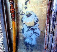 Banksy Little Diver in Melbourne by Jouer