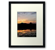 Sunset Reflections by the Coomera River Framed Print