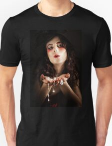 Pretty Elegant Lady Holding Jewelry Necklaces T-Shirt