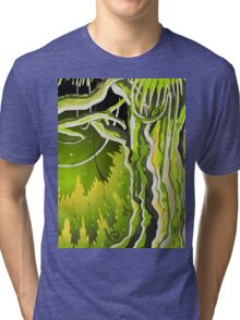 Magic Tale Forest Background Tri-blend T-Shirt
