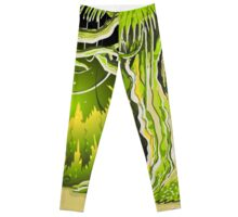 Magic Tale Forest Background Leggings