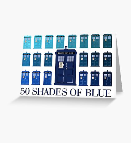 50 SHADES OF BLUE Greeting Card