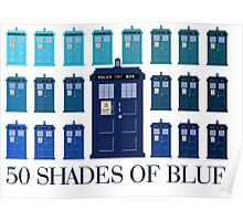 50 SHADES OF BLUE Poster