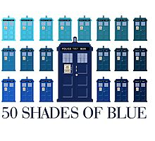 50 SHADES OF BLUE Photographic Print