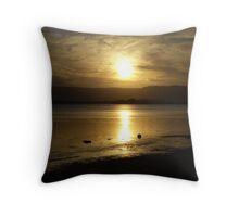 Cloudy Sunset over Water - Lake Illawarra (1) Throw Pillow