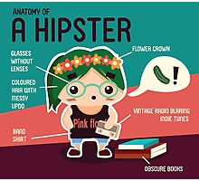 The Hipster Photographic Print