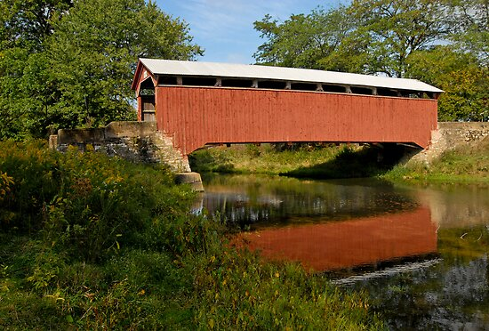 Covered Bridge, Pennsylvania by Andy Mueller