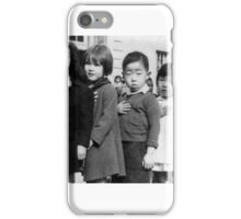 Children at the Weill public school in San Francisco pledge allegiance to the American flag in April 1942, prior to the internment of Japanese Americans. iPhone Case/Skin