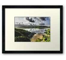 Portmeirion Beach, Wales Framed Print