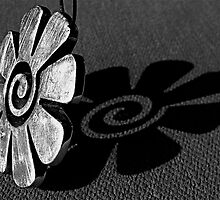 Flowered Pendant  B&W by Francesca Rizzo