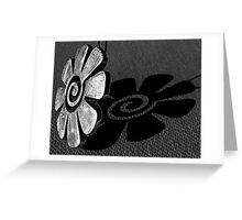 Flowered Pendant  B&W Greeting Card