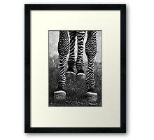 Zeb Legs Framed Print