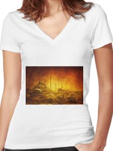 Prophetic Past Women's Fitted V-Neck T-Shirt